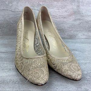 Life Stride Vintage 1962 wedding lace heels 6.5